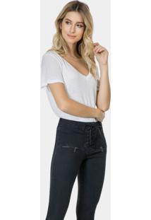 Calça Jeans Bootcut Malibu Elastic Preto Reativo - Lez A Lez