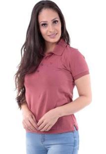 Camisa Polo Regular Pima Pé De Gola Traymon Feminina - Feminino-Rosa