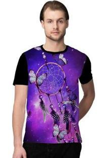 Camiseta Stompy Psicodelica35 Masculina - Masculino-Preto