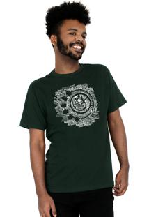 Camiseta 182Life Smile Songs Musgo