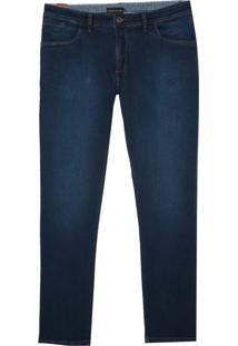 Calça Dudalina Jeans Stretch Five Pockets Masculina (Jeans Escuro, 44)