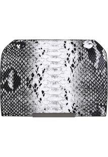 Tampa Avulsa Shoestock Bolsa Snap Flap Transversal - Feminino-Preto+Branco