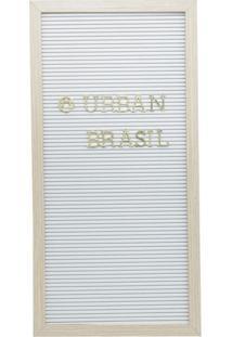 Quadro Decorativo Urban Branco E Dourado 50,8X25,4X2 Cm