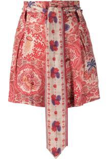 Chufy Vestido Com Estampa Paisley - Vermelho