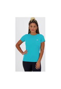 Camiseta New Balance Basic Feminina Turquesa