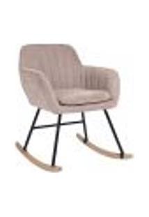 Cadeira De Balanço Maniar Rosa