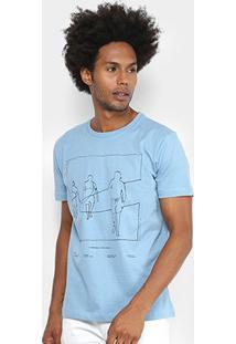 Camiseta Forum Estampada Masculina - Masculino-Azul Claro