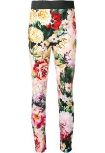 Dolce & Gabbana Calça Legging Floral - Preto