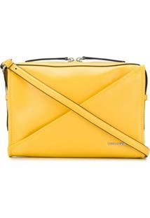 Karl Lagerfeld Clutch K/Slash Com Zíper - Amarelo