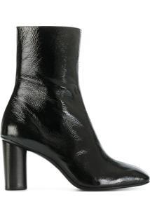 Barbara Bui Ankle Boot De Couro - Preto