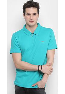 Camisa Polo Colcci Básica Zíper Masculina - Masculino