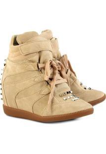 Sneaker Em Couro Com Aplicaã§Ãµes- Nudeschutz