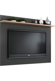 Painel Para Tv Até 50 Polegadas Friso Grafite E Siena 135 Cm