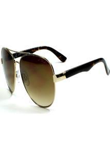 Óculos De Sol Jf Sun Havana Gold - Dourado E Tartaruga - Dourada Marrom