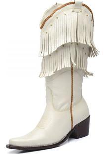 Bota Top Franca Shoes Country Branco