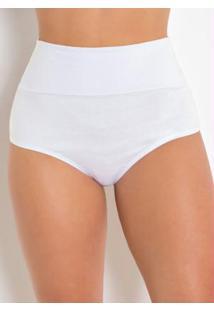 Calcinha Modeladora Branca Chrisrian Gray
