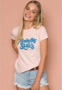 T-Shirt Made Of Stars Sislla Feminino - Feminino-Rosa