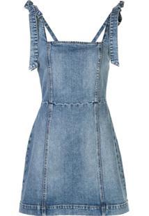 Alice+Olivia Vestido Jeans Maryann - Azul