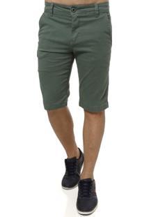Bermuda Sarja Masculina Verde - Masculino