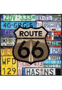 Placa Decorativa Route Preta