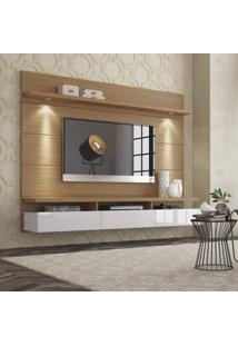 Painel Para Tv 60 Polegadas Horizon Natural E Off White 218 Cm