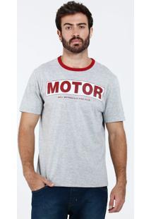 Camiseta Masculina Manga Curta Motor Marisa