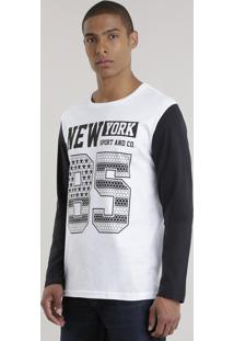 "Camiseta ""New York"" Branca"