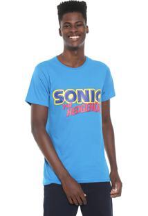 Camiseta Tectoy Sonic The Hedgehog Authentic Azul