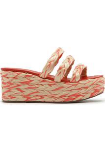 Sandália Flatform Corda Tricô Multicolor Red | Schutz
