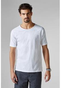 Camiseta Reserva Pf Raglan Flame Masculina - Masculino-Branco