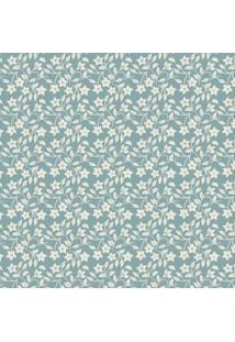 Papel Adesivo Sunset Adesivos De Parede Floral Fundo Azul - Rolo 3,00 X0,50 M