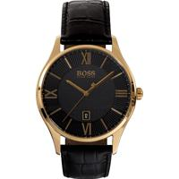 5cb597fc6e8 Relógio Hugo Boss Masculino Couro Preto - 1513554 Vivara