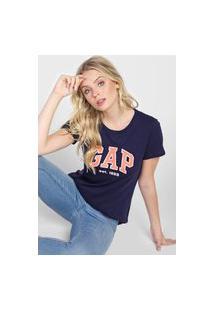 Blusa Gap Logo Azul-Marinho