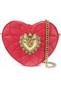 Dolce & Gabbana Bolsa Tiracolo Com Formato De Corações - Vermelho