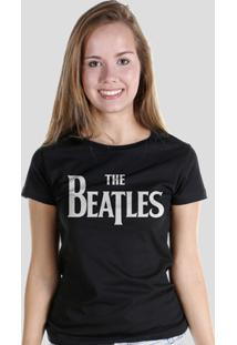 Camiseta Bandup! The Beatles Classic Logo - Feminino-Preto
