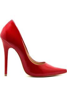 Scarpin Royalz Verniz Celine - Feminino-Vermelho