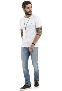 Camiseta Nogah Basic Gola V Branca