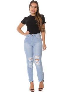 Calça Jeans Reta - 265648 Feminina - Feminino