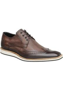 Sapato Casual Couro Oxford Malbork Masculino - Masculino-Marrom