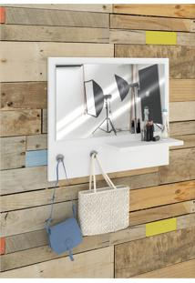 Espelheira/Prateleira/Painel Trend Branco Estilare
