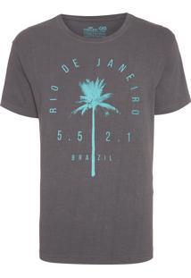 Camiseta Masculina Stone Coqueiros - Cinza
