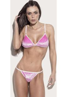Conjunto De Soutien & Calcinha Easy Care®- Rosa & Brancosuper Hot