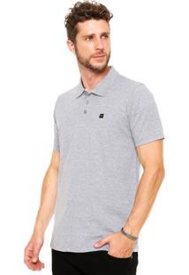 Camisa Polo Oakley Patch Cinza