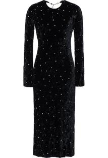 Miu Miu Crushed Velvet Dress - Preto
