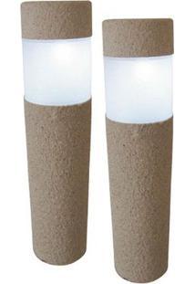 Luminária Solar Balizadora Tipo Poste 3W Branca Keywest