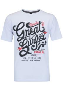 Camiseta Fatal Estampada 20350 - Masculina - Branco