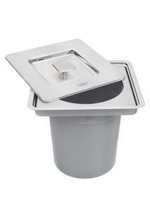 Lixeira De Embutir Tramontina 94518205 Clean Square 5L Aço Inox