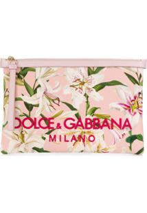 Dolce & Gabbana Clutch Floral - Rosa