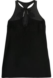 La Perla Conjunto De Pijama 2 Peças Blusa E Short Com Aplicação De Renda - Preto