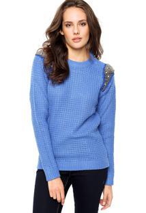 Suéter Malwee Metalizado Azul
